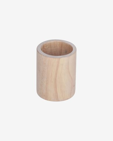 Dilcia solid rubber wood pencil holder