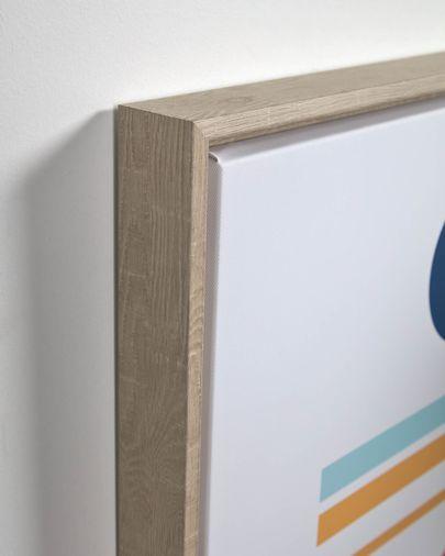 Quadre Gelsina 50 x 50 cm rodona blau