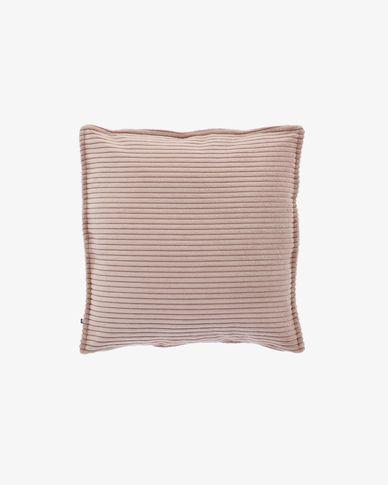 Funda cojín Wilma 45 x 45 cm pana rosa