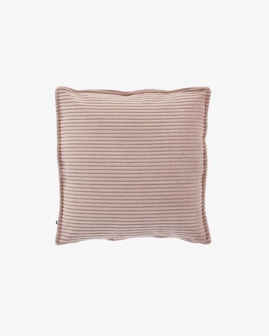 Funda coixí Wilma 45 x 45 cm pana rosa