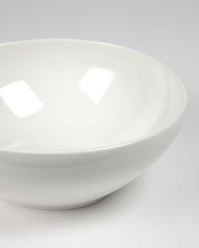 Pahi large round porcelain bowl in white