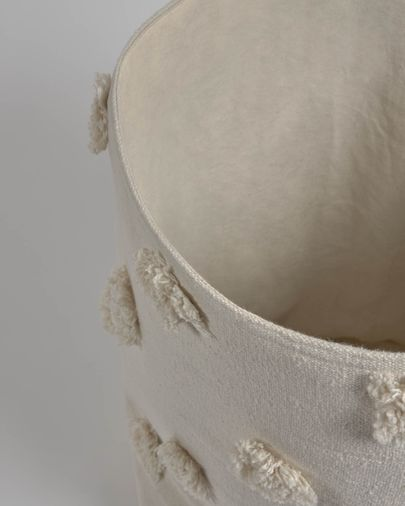 Cistella gran Khrista 100% cotó orgànic (GOTS) beix