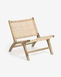 Poltrona Beida in legno massello di teak