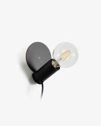 Tafellamp of muurlamp Danitz zwart