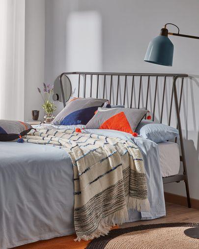 Narlu 160 x 200 cm graphite bed