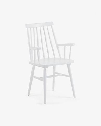 Chaise avec accoudoirs Tressia blanche