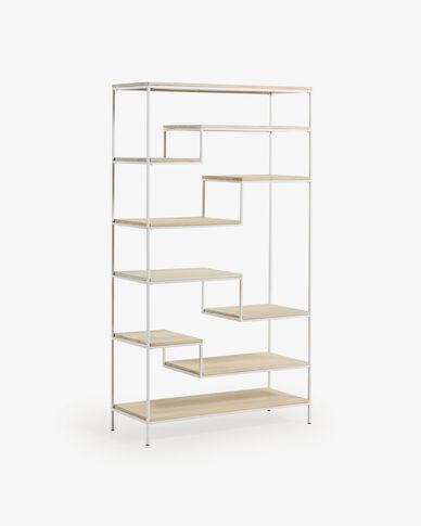Push shelving unit 100 x 180 cm white