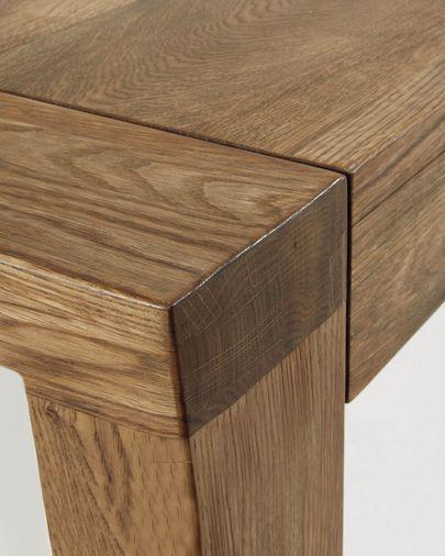 Mesa extensible Briva chapa de roble acabado envejecido 180 (230) x 90 cm