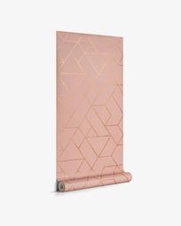 Gea 10 x 0,53 m Tapete, rosa und gold