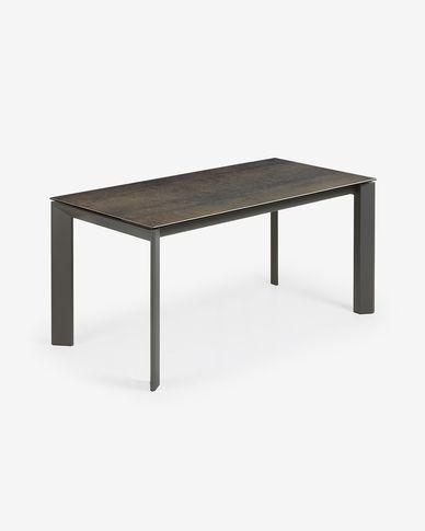 Tavolo allungabile Axis 160 (220) cm porcellanato finitura Iron Moss gambe antracite