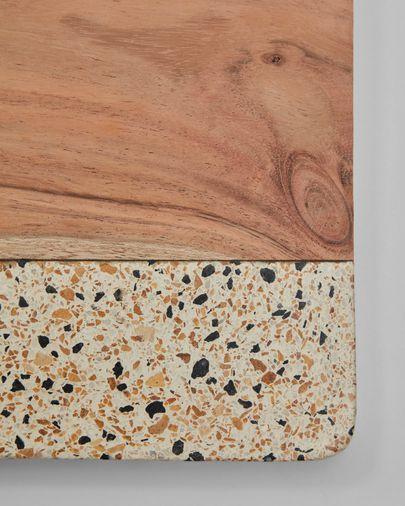 Verna rectangular wood and terrazzo serving board