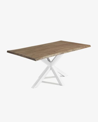Argo table 180 cm antique oak white legs